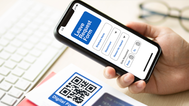 How do paper-based offices can start becoming paperless with the use of QR codes?