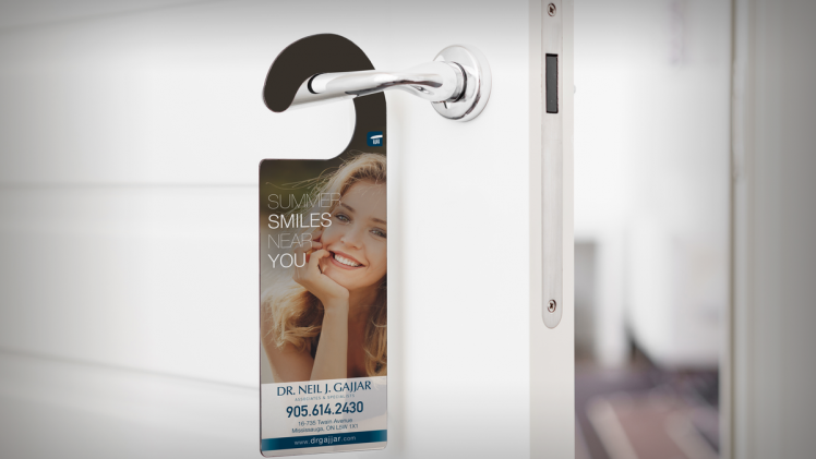 How to use door hangers to promote small company sales?